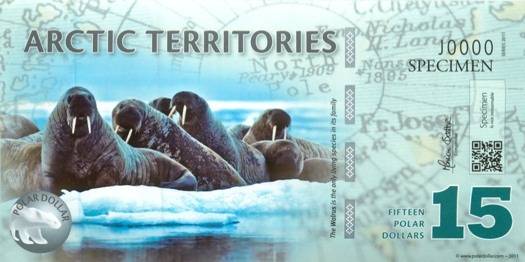 15 долларов (Арктические территории) 2011 года