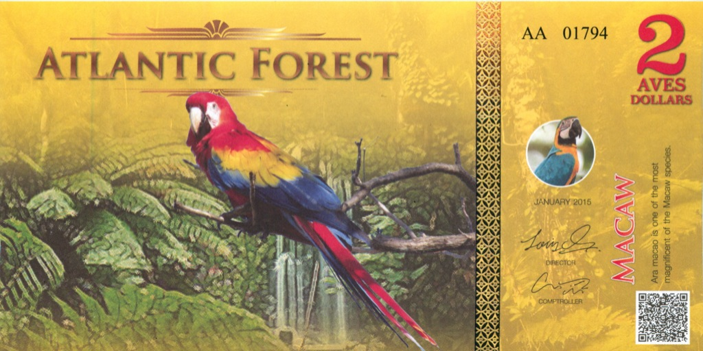 2 доллара (Атлантический лес) 2015 года