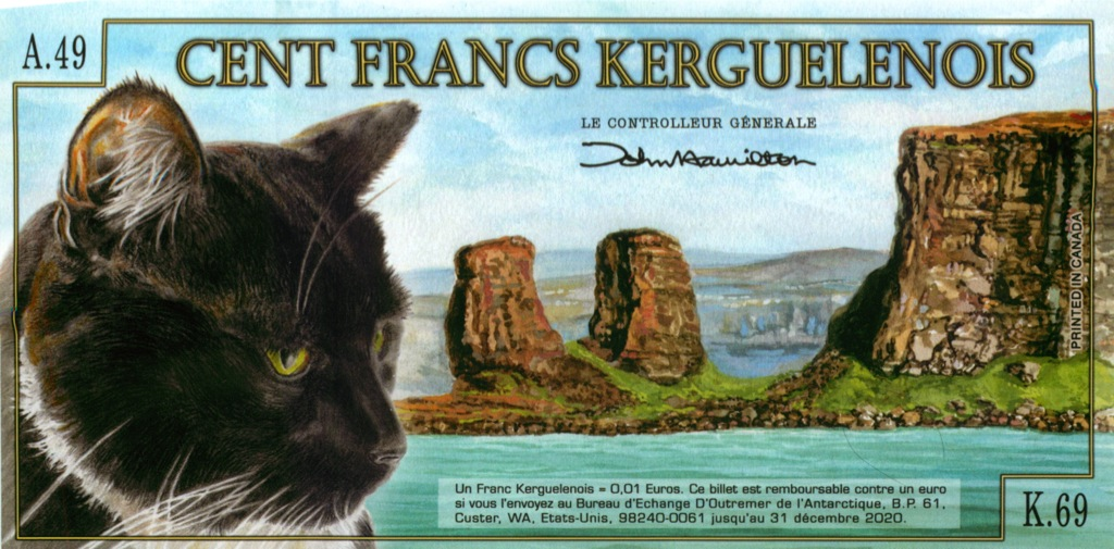 100 франков (Архипелаг Кергелен) 2012 года