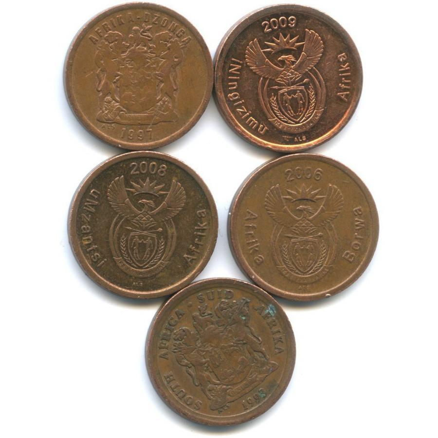 Набор монет 5 центов (ЮАР)