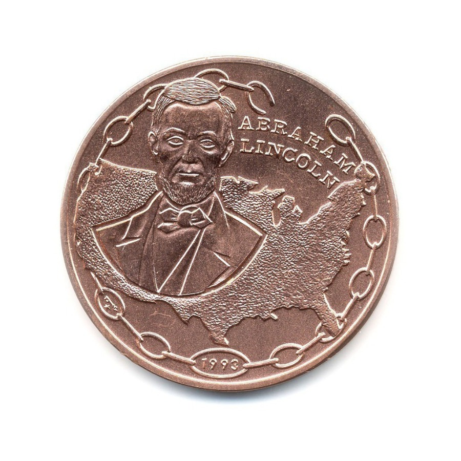 1 песо - Авраам Линкольн 1993 года (Куба)