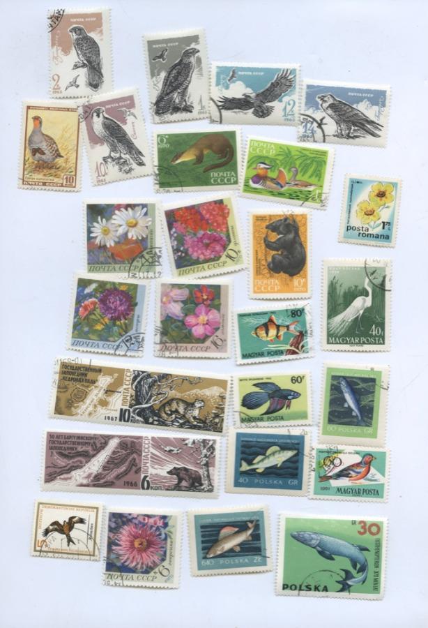 Набор почтовых марок «Фауна» (26 шт.) (СССР)