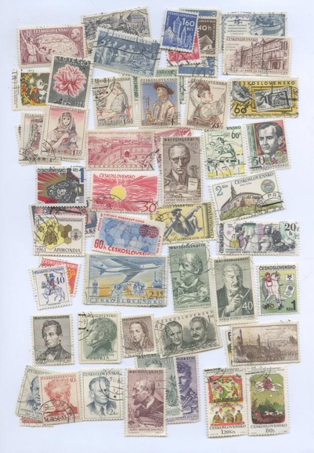 Набор почтовых марок (54 шт.) (Чехословакия)