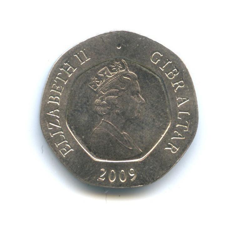 20 пенсов, Гибралтар 2009 года