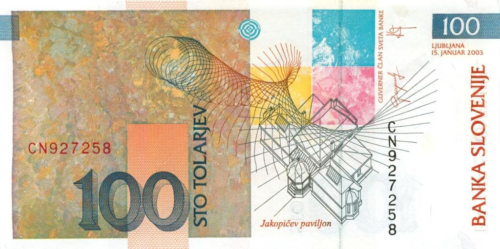100 толаров 2003 года (Словения)