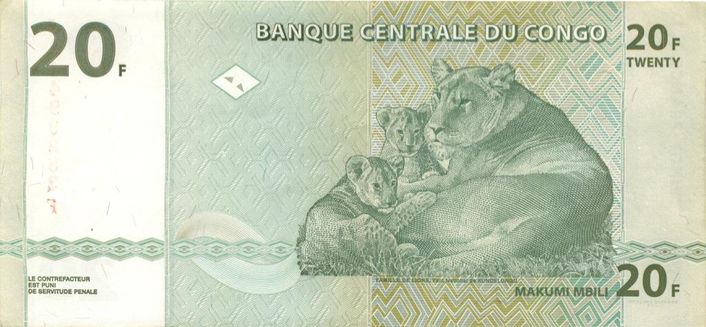 20 франков (Конго) 2003 года