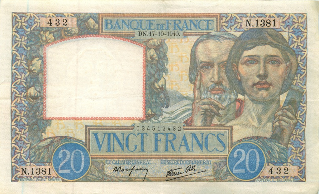 20 франков 1940 года (Франция)