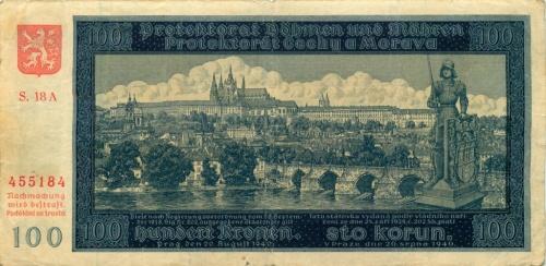 100 крон 1940 года (Богемия и Моравия)