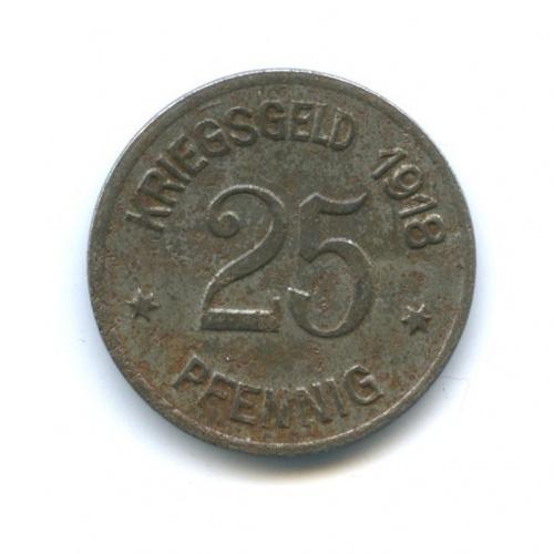 25 пфеннигов, Кобленц (нотгельд) 1918 года (Германия)