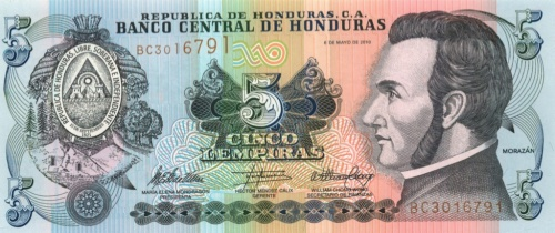 5 лемпир (Гондурас) 2010 года