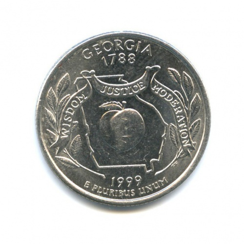 25 центов (квотер) — Квотер штата Джорджия 1999 года P (США)
