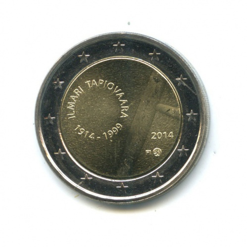 2 евро - 100 лет содня рождения дизайнера Илмари Тапиоваара 2014 года (Финляндия)