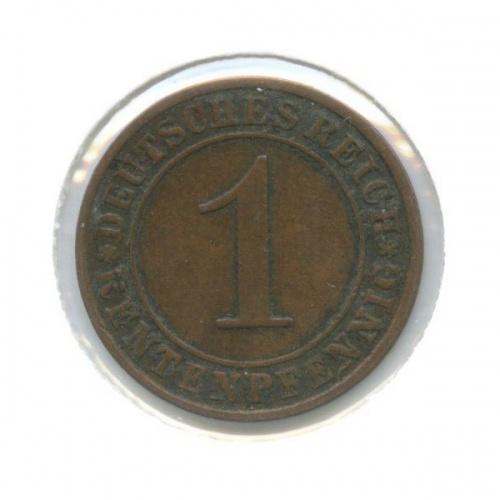 1 рентенпфенниг (в холдере) 1924 года A (Германия)