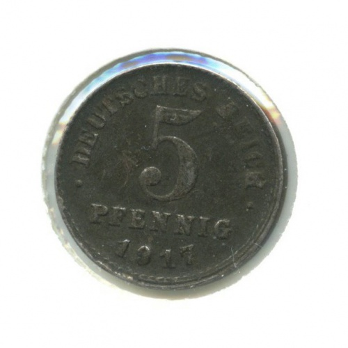5 пфеннигов (вхолдере) 1917 года F (Германия)