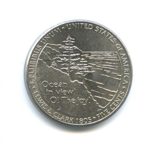 5 центов — 200 лет экспедиции Льюиса иКларка - Выход кокеану 2005 года D (США)