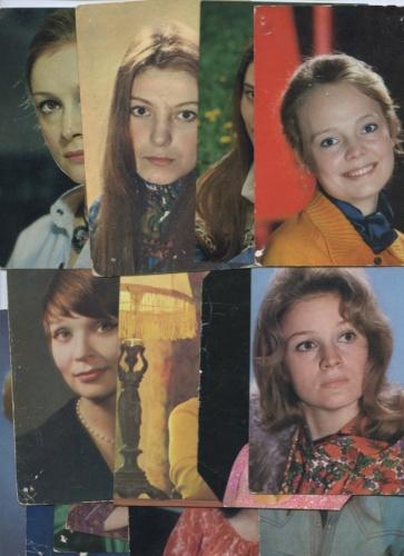 Набор открыток «Актрисы советского кинематографа» (15 шт.) (СССР)