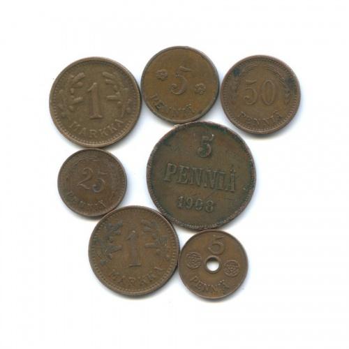 Набор монет (Российская Империя, Финляндия)