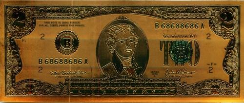 2 доллара, сувенирная банкнота (США)