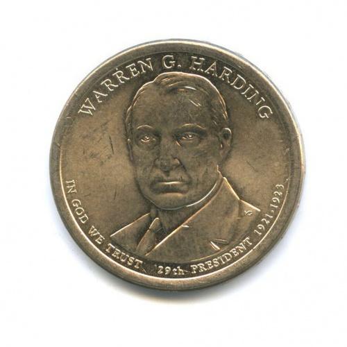 1 доллар — 29-ый Президент США - Уоррен Гардинг (1921–1923) 2014 года P (США)