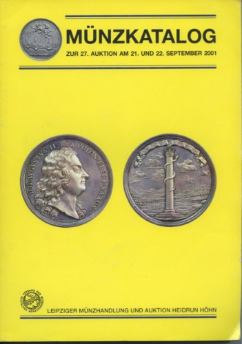 Каталог аукциона нумизматики «Munzkatalog», 405 стр. 2001 года (Германия)