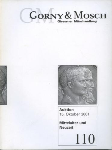Каталог аукциона нумизматики «Gorny & Mosch», №110, 231 стр 2001 года (Германия)