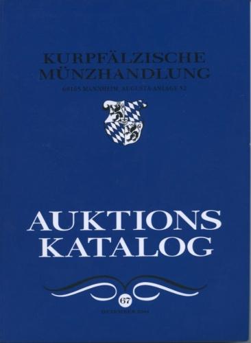 Каталог аукциона нумизматики «Kurpfalzische Munzhandlung», №67 2004 года (Германия)