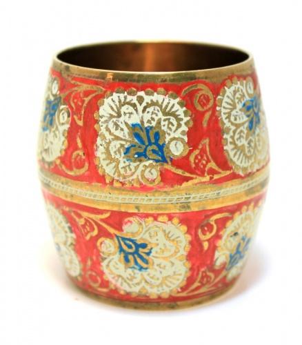 Чаша (роспись, эмаль, латунь), 6,5 см
