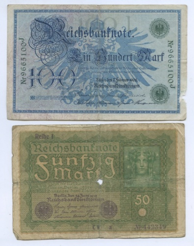 Набор банкнот 1908, 1919 (Германия)