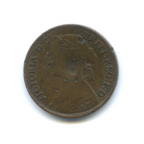 1 фартинг - Королева Виктория 1860 года (Великобритания)