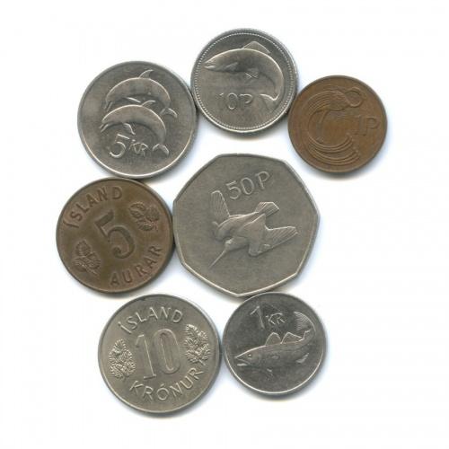 Набор монет (Ирландия, Исландия)