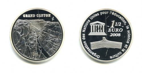 1 1/2 евро - Гранд Каньон (в футляре) 2008 года (Франция)