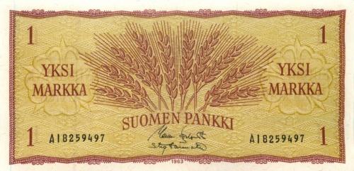1 марка 1963 года (Финляндия)