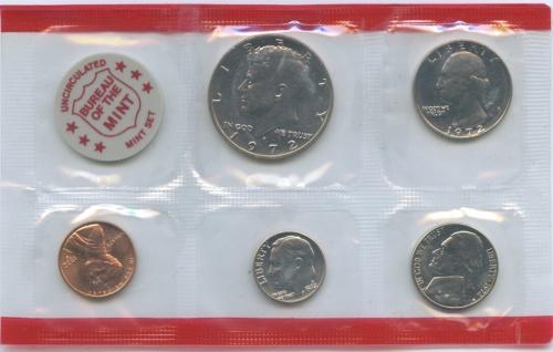 Набор монет (годовой), взапайке 1972 года D (США)