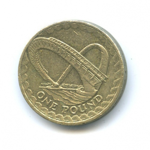 1 фунт - Мост тысячелетия в Гейтсхеде 2007 года (Великобритания)