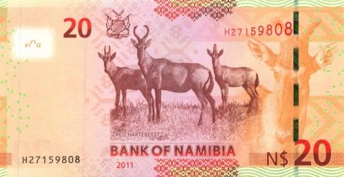 20 долларов (Намибия) 2011 года