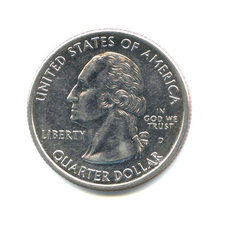 25 центов (квотер) — Квотер штата Коннектикут 1999 года D (США)