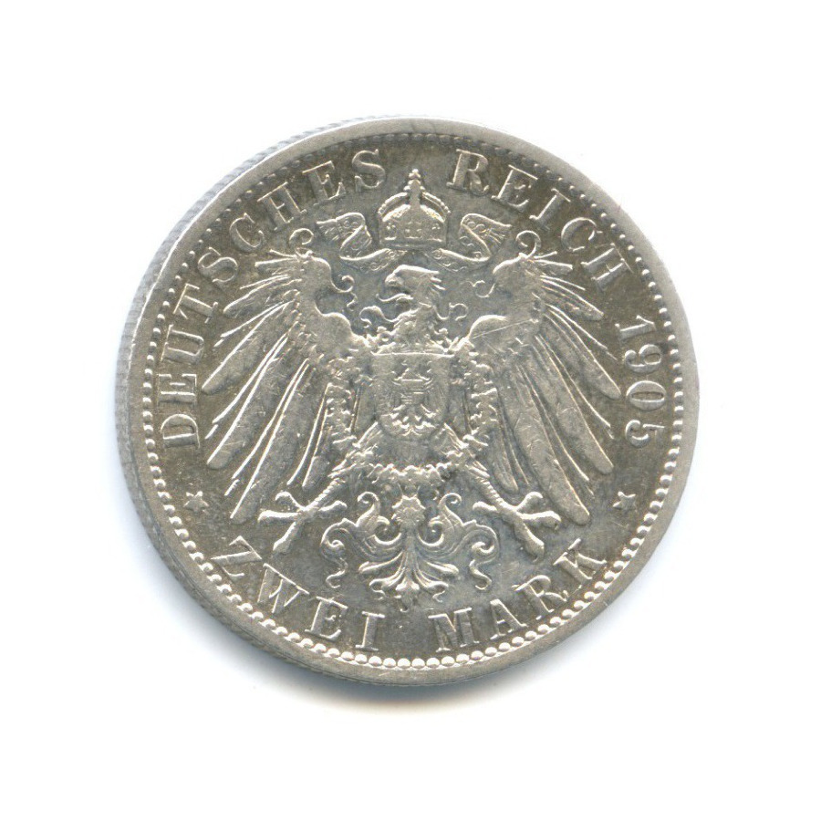 2 марки - Вильгельм II, Пруссия 1905 года