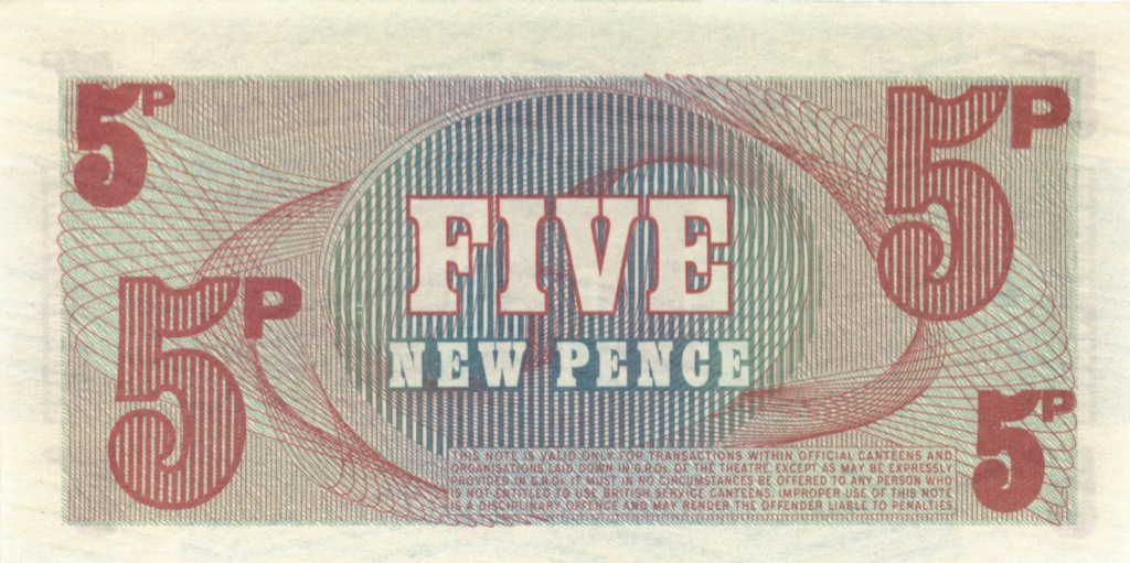 5 пенсов (ваучер) - Вооруженные силы Великобритании (Великобритания)