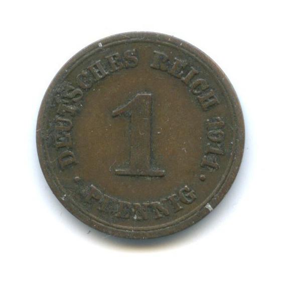 1 пфенниг 1911 года E (Германия)