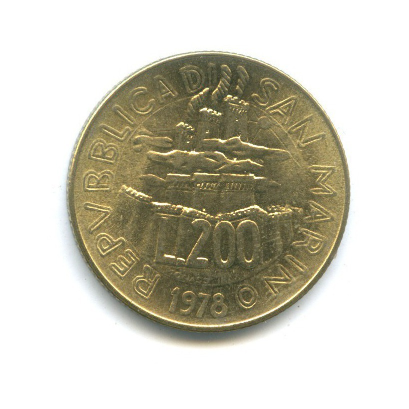 200 лир - Работа 1978 года (Сан-Марино)