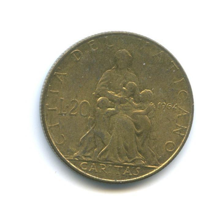 20 лир - Привязанность 1964 года (Ватикан)