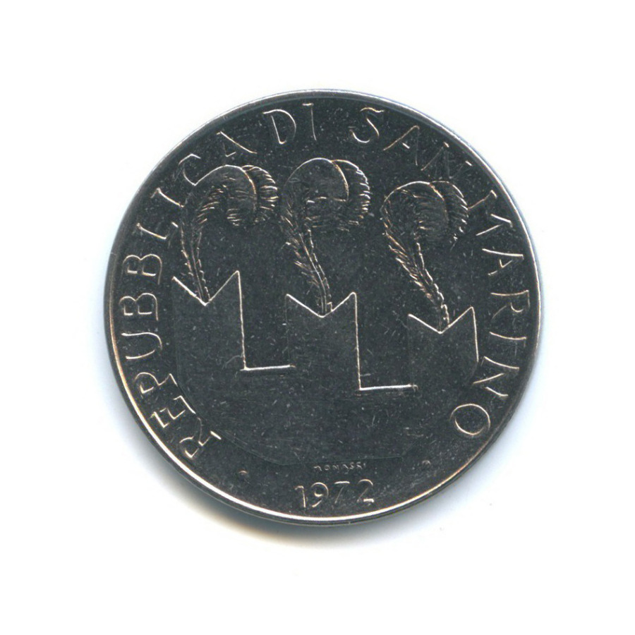 100 лир - Святой Мартин 1972 года (Сан-Марино)