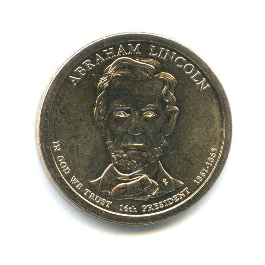 1 доллар — 16-ый Президент США - Авраам Линкольн (1861-1865) 2010 года P (США)