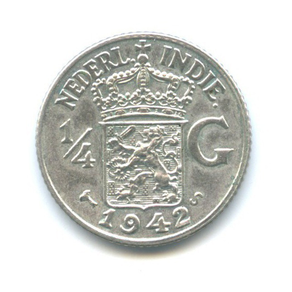 1/4 гульдена - Нидерландская Индия 1942 года