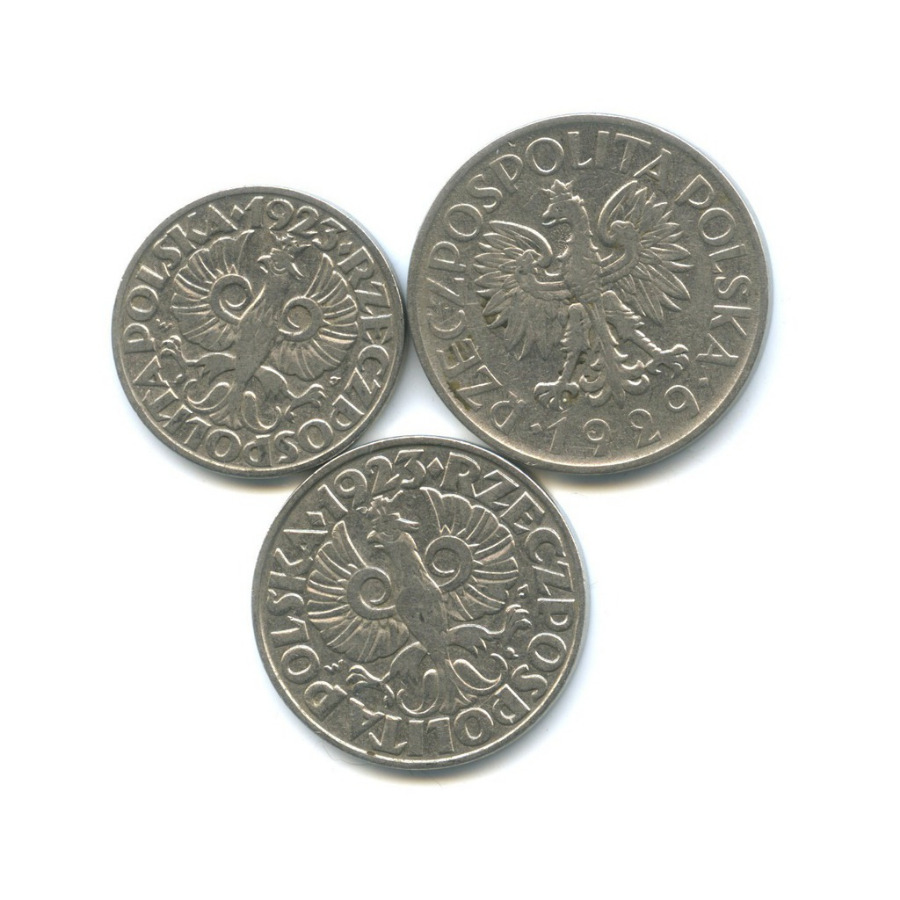 Набор монет 1923, 1929 (Польша)