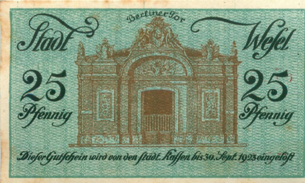 25 пфеннигов (нотгельд) 1920 года (Германия)