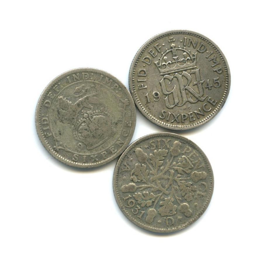 Набор монет 6 пенсов (Великобритания)