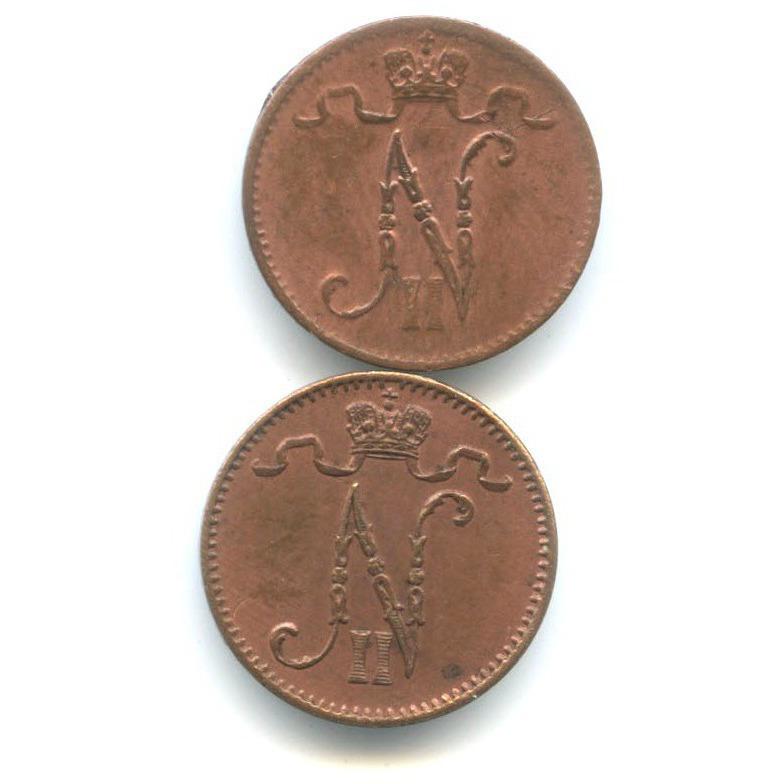 Набор монет 1 пенни 1911, 1916 (Российская Империя)
