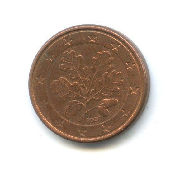 1 цент 2007 года G (Германия)