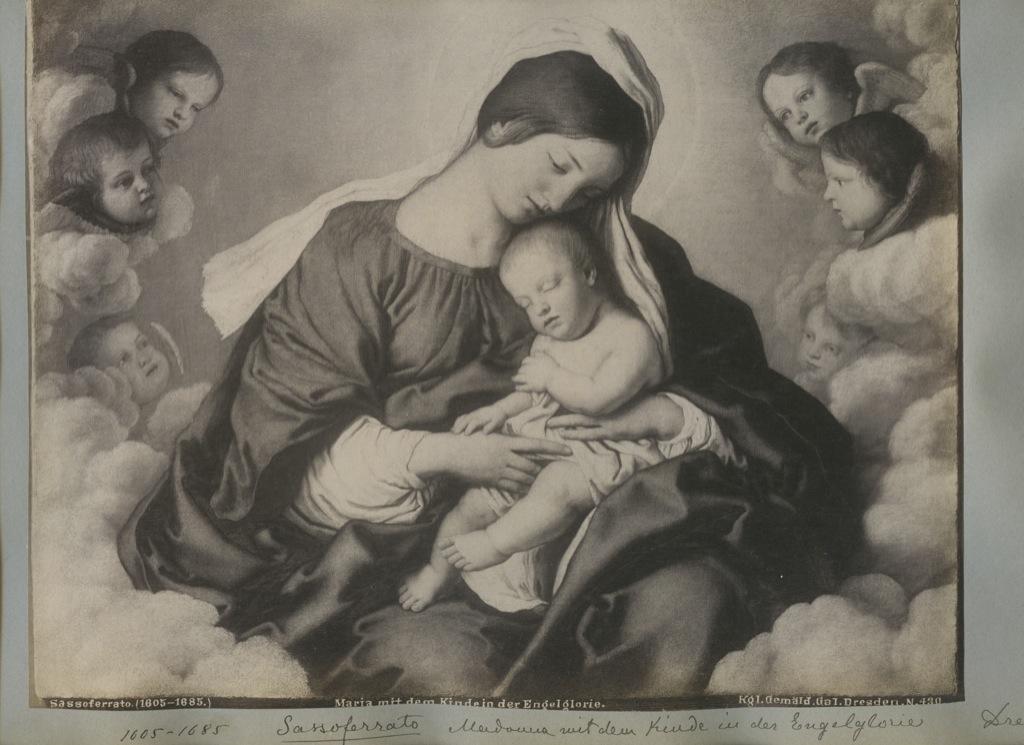 Лист альбомный сфотографией «Maria mit dem Kinde der Engelglorie» (34×24 см) (Германия)